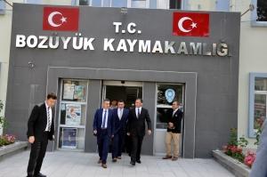 VALİ ELBAN'DAN BOZÜYÜK'E İLK RESMİ ZİYARET