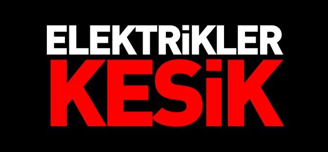 KAYABELİ'NDE ELEKTİRKLER KESİK