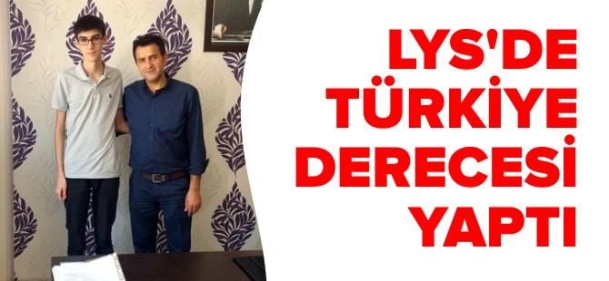LYS'DE TÜRKİYE DERECESİ YAPTI