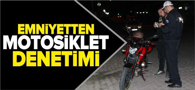 EMNİYETTEN MOTOSİKLET DENETİMİ