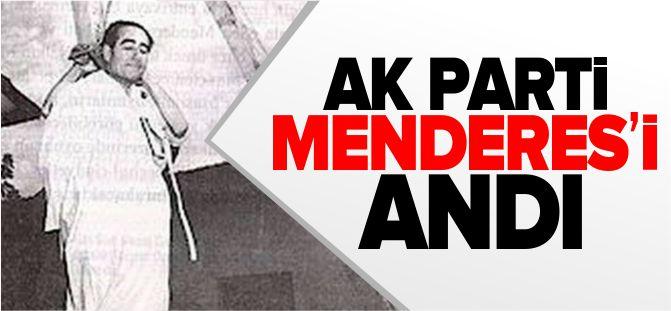 AK PARTİ MENDERES'İ ANDI