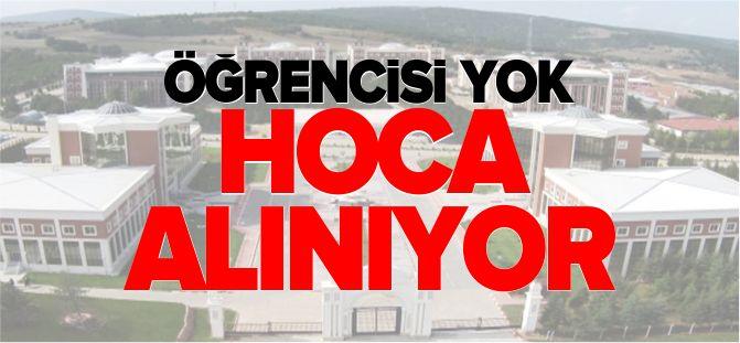ÖĞRENCİSİ YOK, HOCA ALINIYOR!
