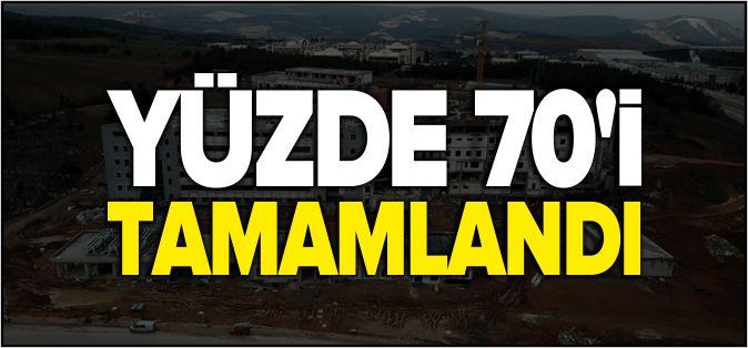YENİ HASTANENİN YÜZDE 70'İ TAMAMLANDI