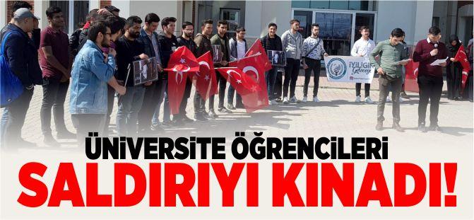 üniversite öğrencileri saldırıyı kınadı