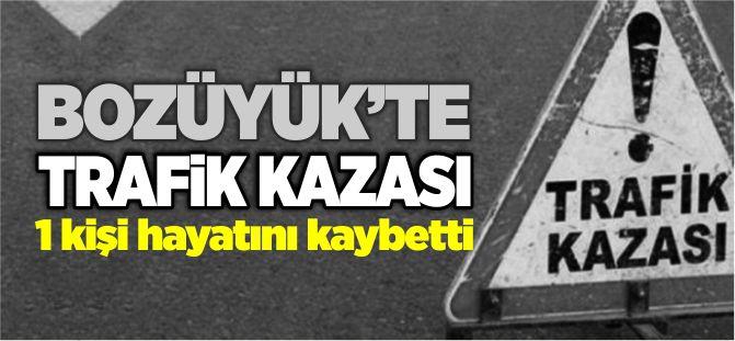 BOZÜYÜK'TE TRAFİK KAZASI 1 KİŞİ HAYATINI KAYBETTİ
