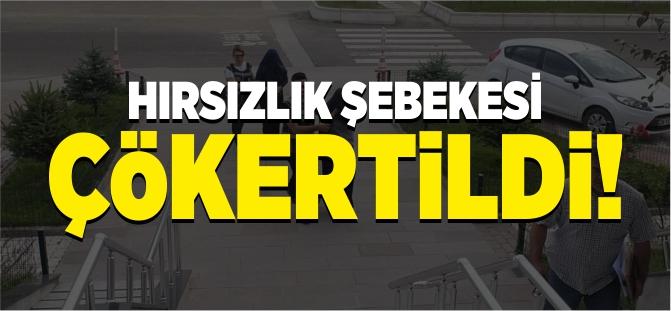HIRSIZLIK ŞEBEKESİ ÇÖKERTİLDİ