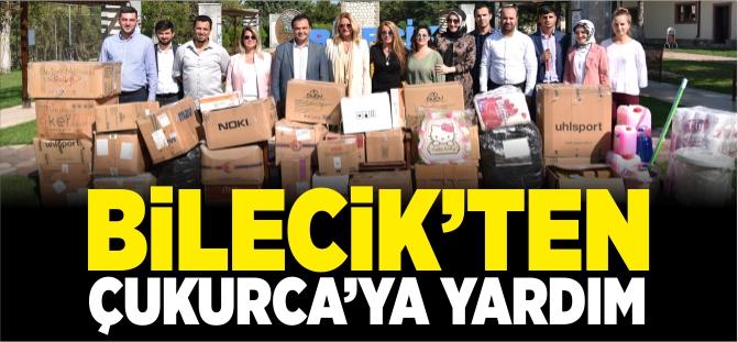 BİLECİK'TEN ÇUKURCA'YA YARDIM