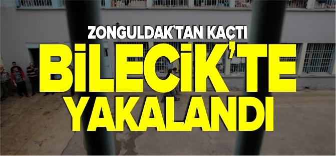 ZONGULDAK'TAN KAÇTI BİLECİK'TE YAKALANDI
