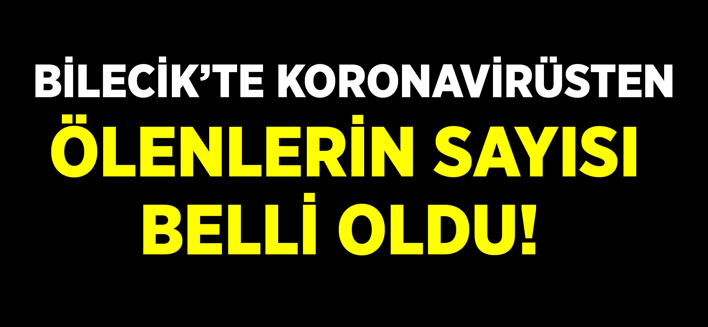 BİLECİK'TE KORONAVİRÜSTEN ÖLENLERİN SAYISI BELLİ OLDU!