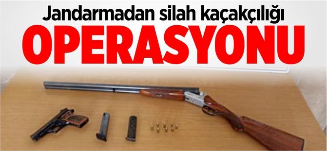 Vezirhan'da silah kaçakçılığı operasyonu