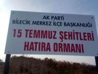 AK PARTİ'DEN 15 TEMMUZ ŞEHİTLERİ HATIRA ORMANI