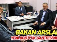 BAKAN ARSLAN'DAN YENİ BOZÜYÜK GAZETESİ'NE ZİYARET