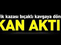 TRAFİK KAZASI BIÇAKLI KAVGAYA DÖNÜŞTÜ