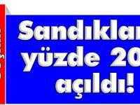 SANDIKLARIN YÜZDE 20'Sİ AÇIKLANDI