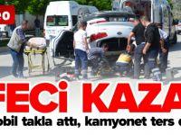 FECİ KAZA, 4 YARALI