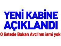 YENİ KABİNE AÇIKLANDI