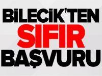 BİLECİK'TEN SIFIR BAŞVURU