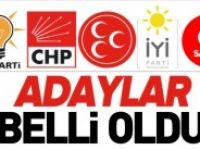 ADAYLAR BELLİ OLDU
