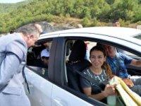 VALİ BÜYÜKAKIN'DAN KARPUZLU TRAFİK DENETİMİ