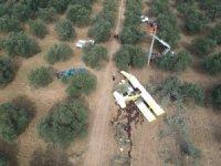 DÜŞEN UÇAK DRONE İLE GÖRÜNTÜLENDİ