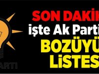 İŞTE AK PARTİ'NİN LİSTESİ