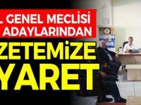 CHP İL GENEL MECLİSİ ÜYESİ ADAYLARINDAN GAZETEMİZE ZİYARET