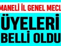 OSMANELİ İL GENEL MECLİSİ ÜYELERİ BELLİ OLDU