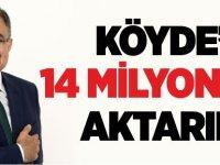 KÖYDES'E 14 MİLYON TL AKTARILDI