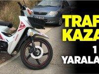 TRAFİK KAZASI 1 KİŞİ YARALANDI
