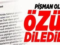 PİŞMAN OLDULAR, ÖZÜR DİLEDİLER!
