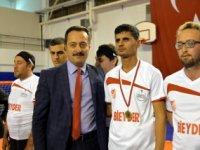 ENGELLİ BİREYLER 'GOALBALL' MAÇI YAPTI