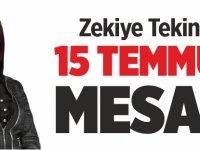 Pazaryeri Belediye Başkanı Zekiye Tekin'den 15 Temmuz Mesajı